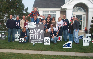 Over the Hill 50th Birthday Lawn Sign