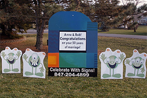 Blue Multi Lawn Sign