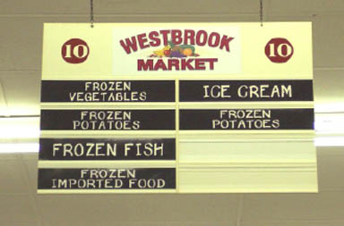 Sign for Westbrook Market