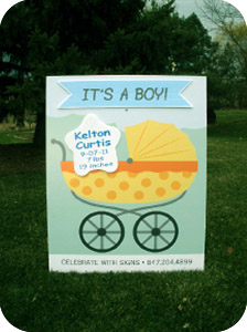 Boy Baby Carriage Yard Sign
