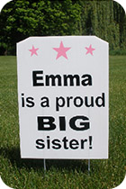 Proud Sibling Lawn Sign