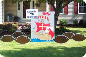 Pirate Ship Yard Sign