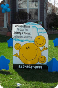 Welcome Home Adoption Lawn Sign